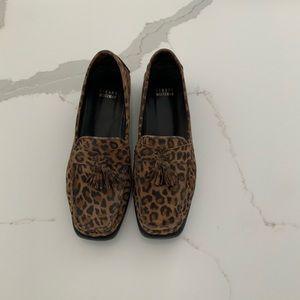 Stuart Weitzman leopard loafers size 8